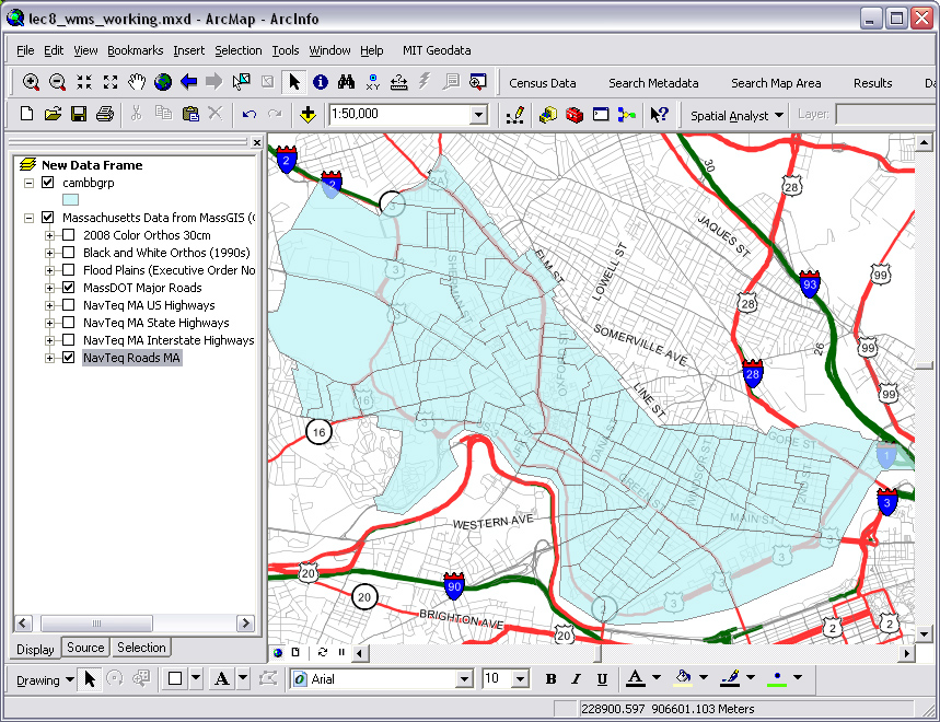 how to change geographic coordinate system in arcmap