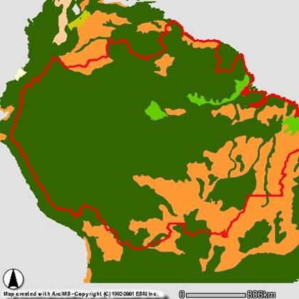 Project Amazonia Threats Agriculture And Cattle Ranching - Map of us cattle ranches
