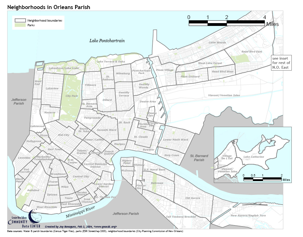 map new orleans districts City History History map new orleans districts