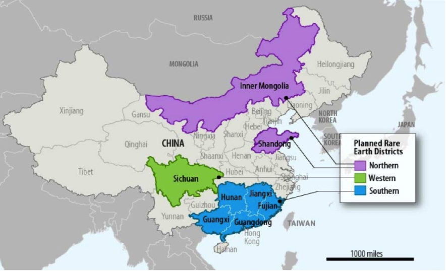 Limited access figure 4 chinese rare earth production districts planned for development in 2009 2015 gumiabroncs