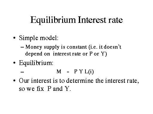 equilibrium rate