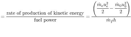 Propulsive Efficiency Equation And Propulsive Efficiency