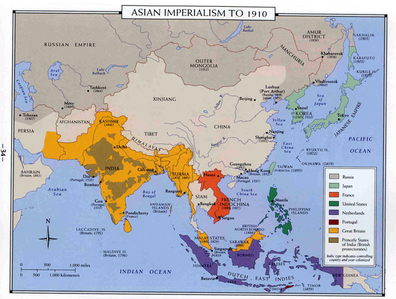 Maps 1700 imperialism in the modern world 1900 asian imperialism to 1910 gumiabroncs Gallery