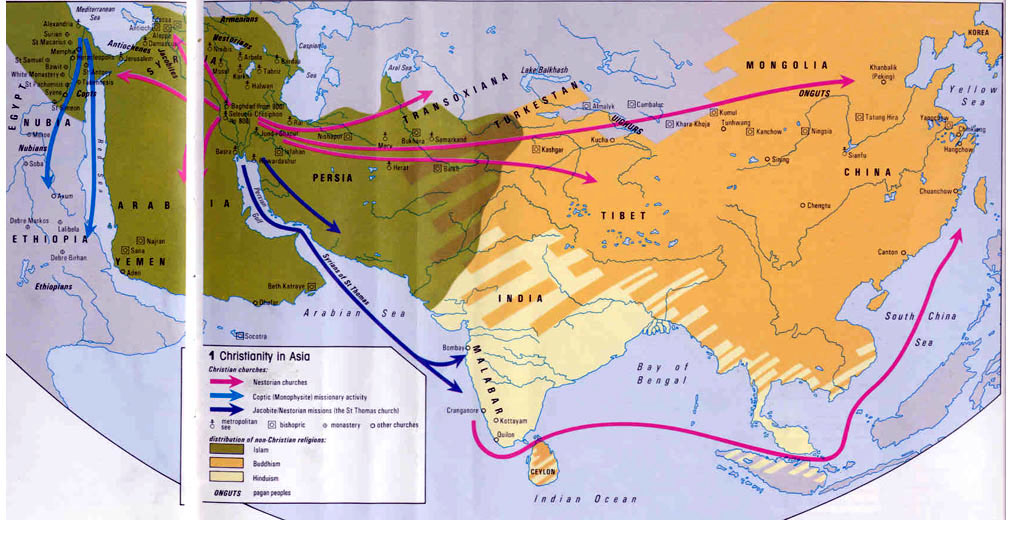 Maps ancient world christianity in asia gumiabroncs Gallery