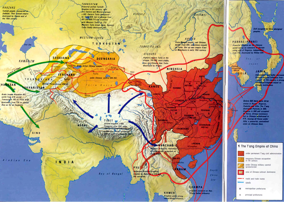 the unification of east asia under the tang empire Viewing the chinese history record, you will find the tang dynasty was the most glistening historic period in china's history founded in 618 and ending in 907, the state, under the ruling of the tang emperors, became the most powerful and prosperous country in the world.