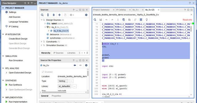 Integrated Logic Analyzer ILA