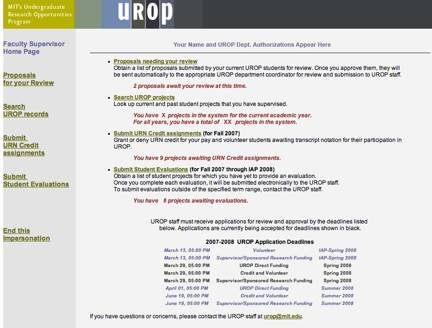 UROP Onlines System Screenshot 5