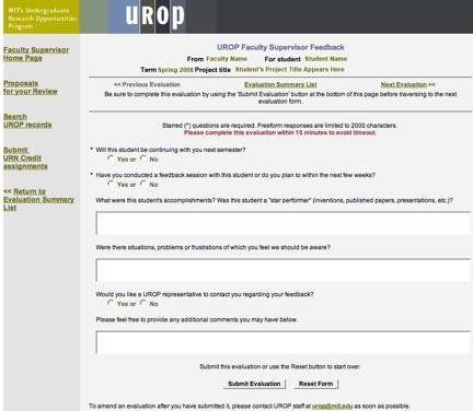 UROP Onlines System Screenshot 7