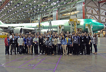 Students at Boeing