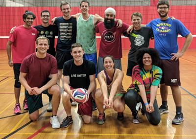 AeroAstro B-CoEd volleyball team