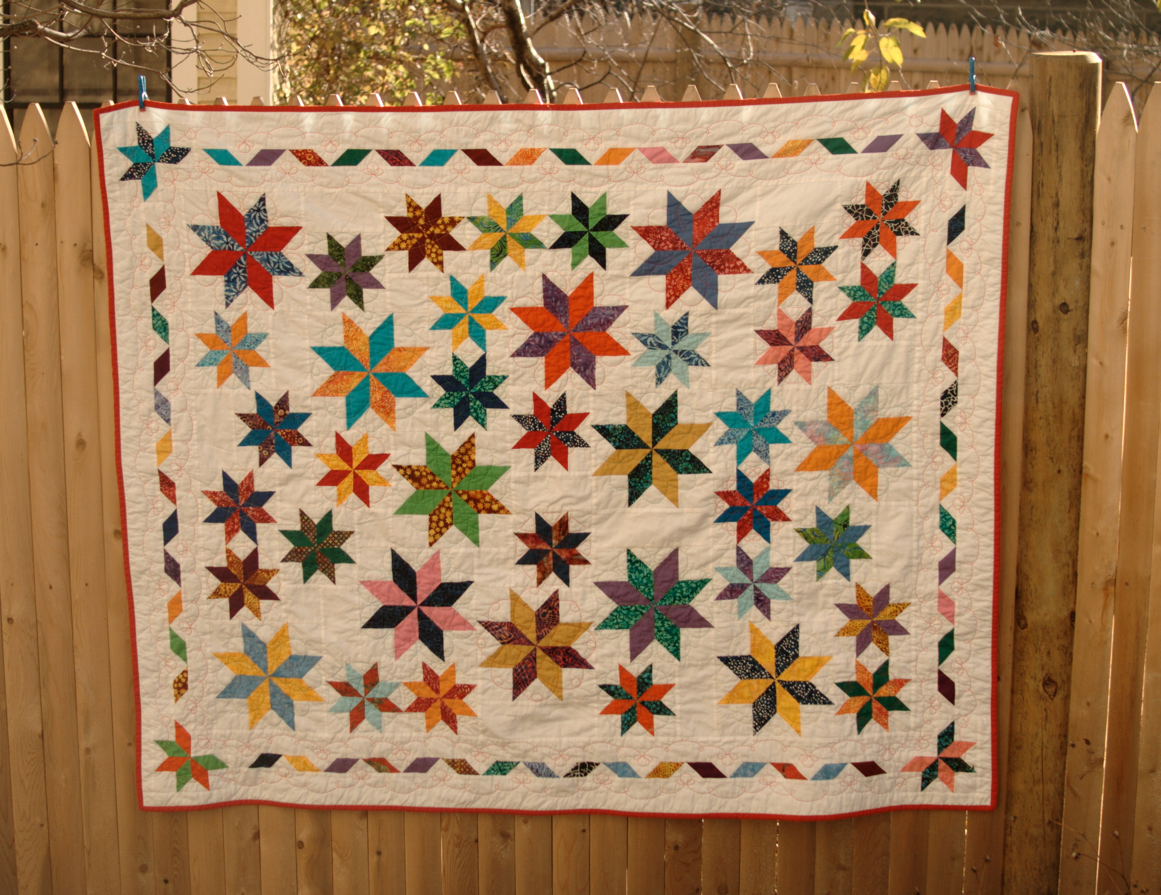 Random Stars Quilt With Epicycles