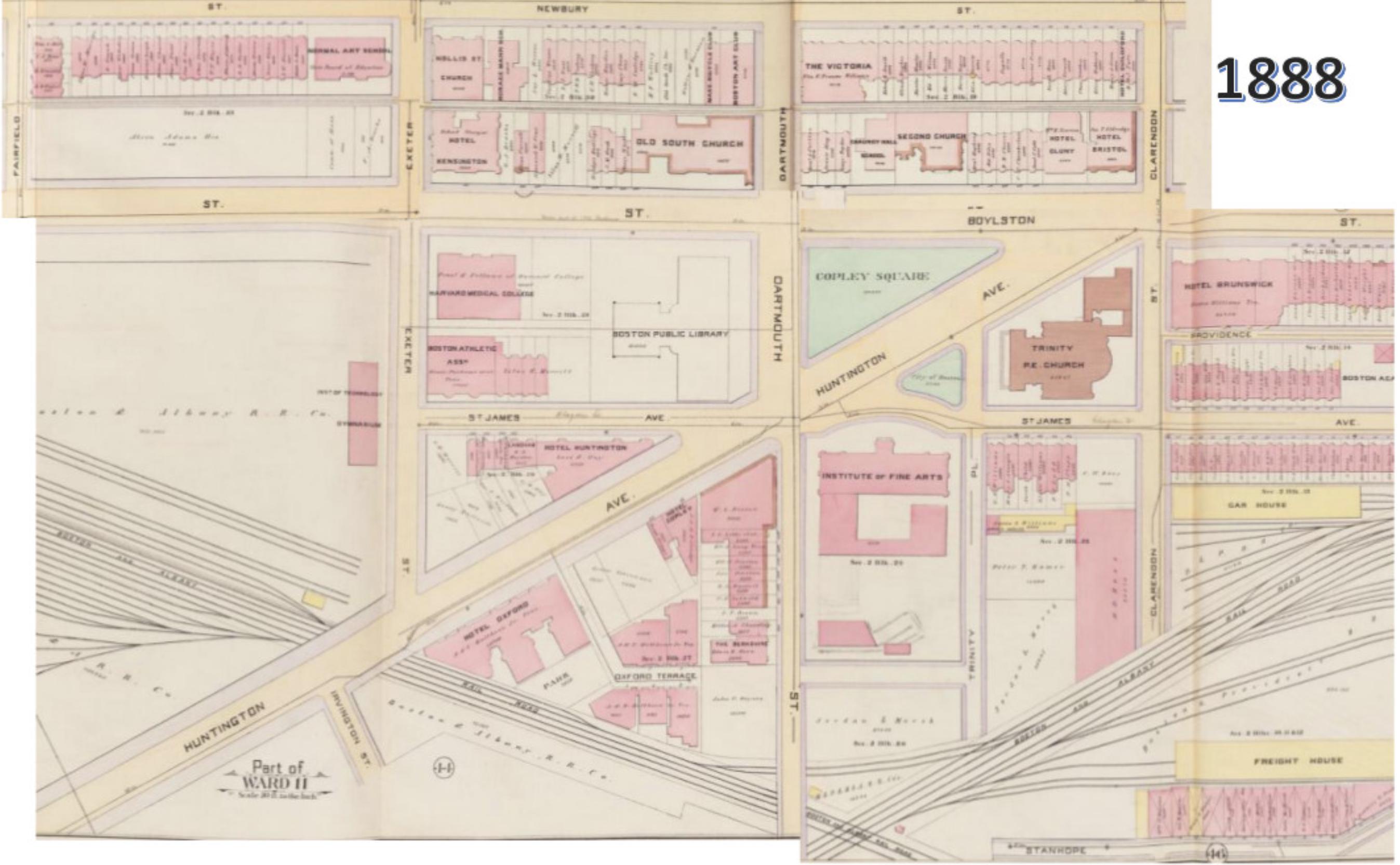 map copley square boston Copley Square Once And Future City map copley square boston