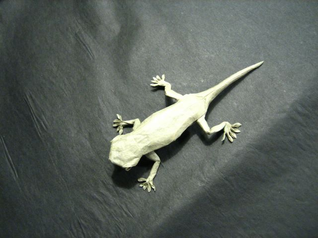 Origami Lizard third pic | Design by Chris Heynen - Diagrams… | Flickr | 480x640