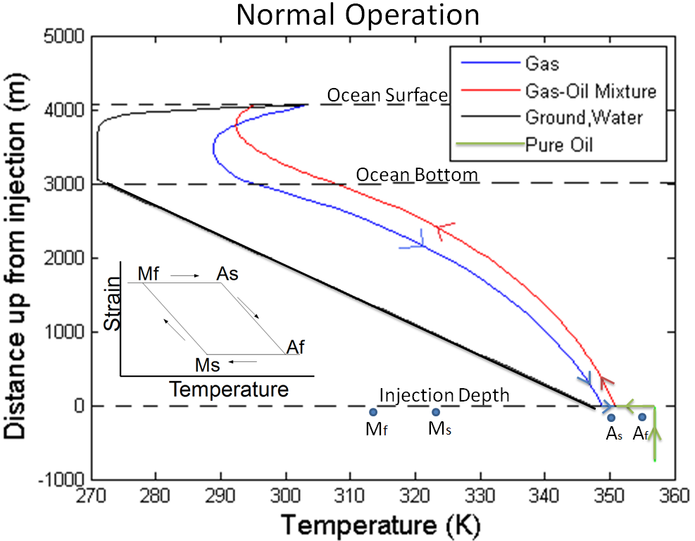 how to set up transition temperature shape memory alloys