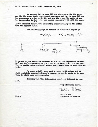 Letter from Felix Bloch to Francis Bitter p2