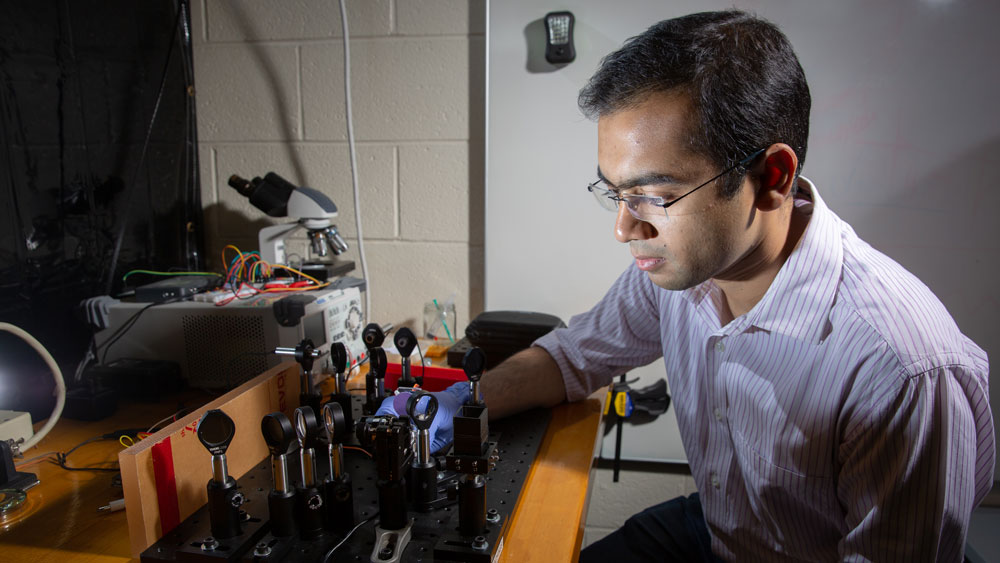 Pranay Jain in a lab at MIT