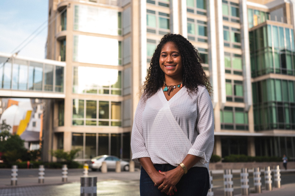 Outside of the lab, Tsehai Grell works to make MIT's grad program more inclusive