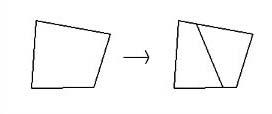 rule 2 : 4 sided polygon -> 4 sided + 4 sided polygon