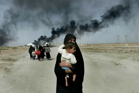 Image result for iraqi woman crying 2003 US bombing