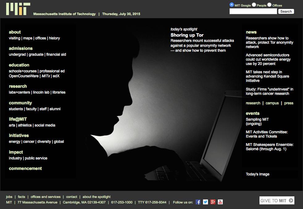 MIT Homepage