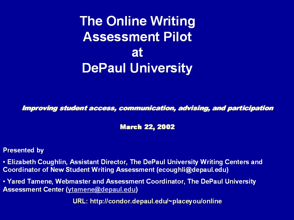 depaul writing center
