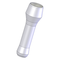 Flashlight from CNC Lathe Class
