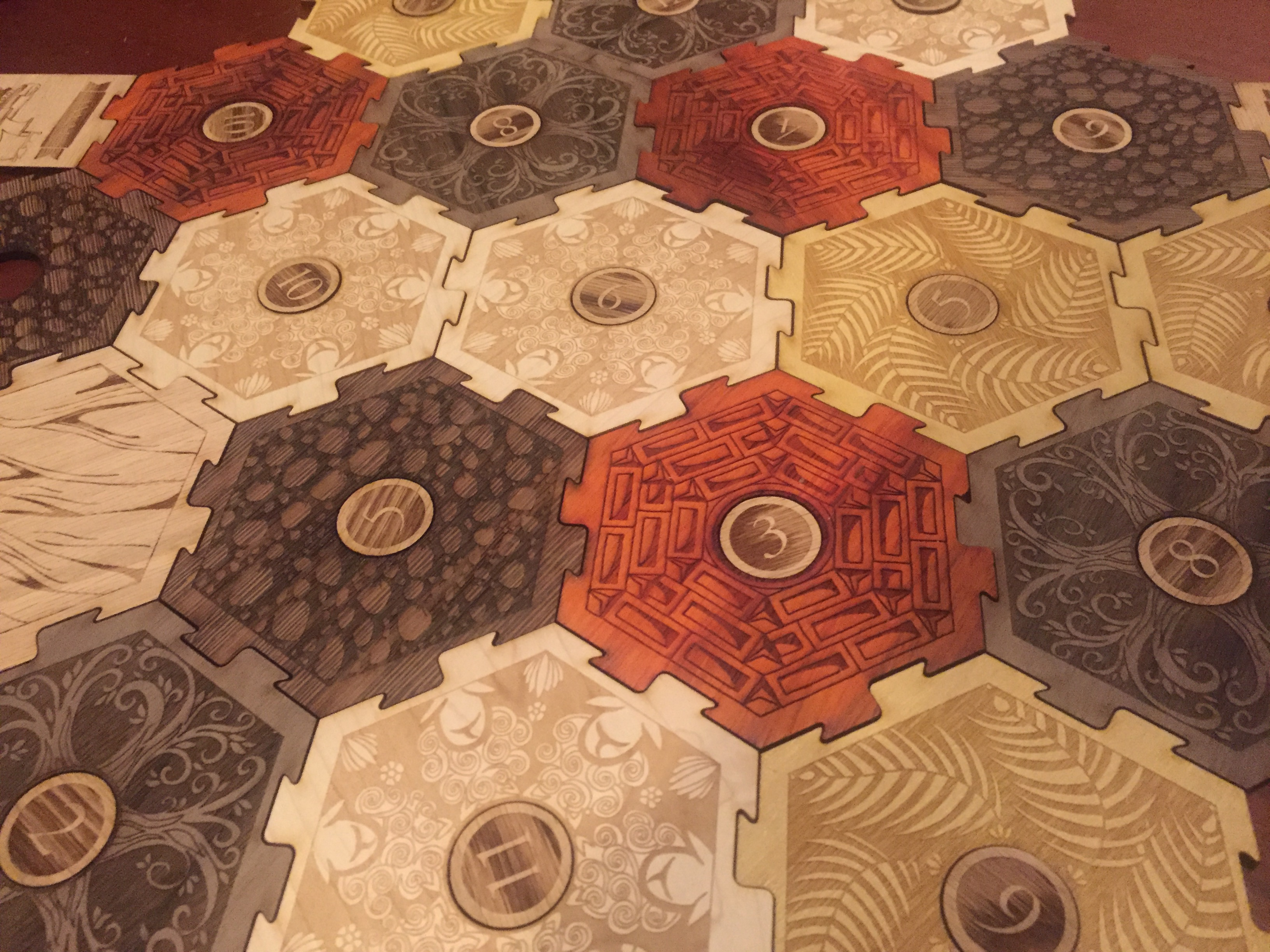 Wooden Settlers of Catan Board made with Laser Cutter