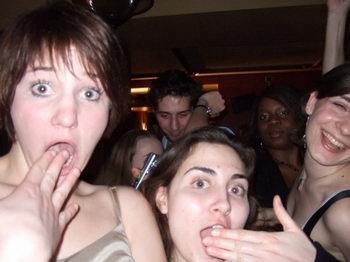 Tess at a nightclub