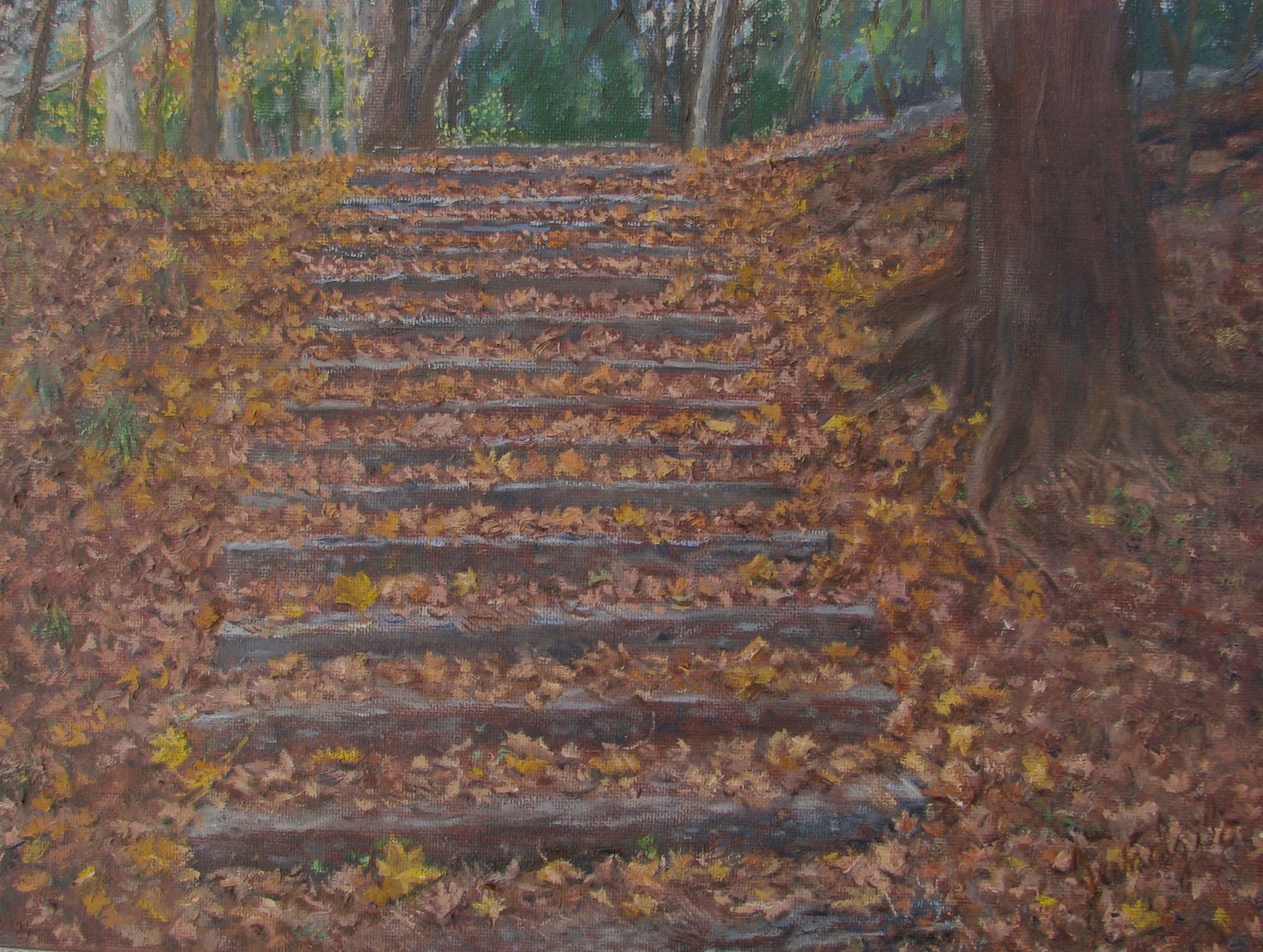 Leaves Descending a Staircase