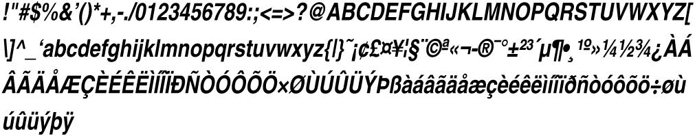 Helvetica-Narrow-BoldOblique
