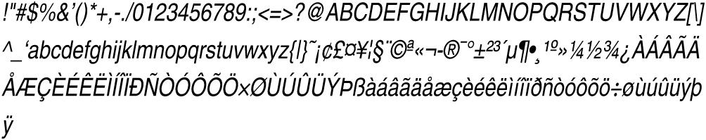 Helvetica-Narrow-Oblique