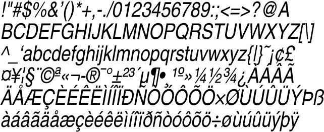 Postscript fonts