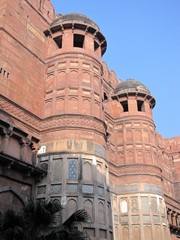 Agra571_AgraFort_Walls