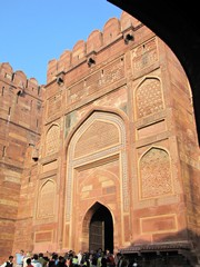 Agra585_AgraFort_Walls