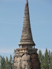 Ayutthaya296_WatMahathat_Prangs