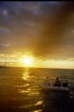 Sunset on the dinghy