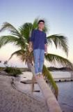 Walking on palm avenue