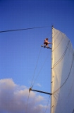 Climbing the sail (3)