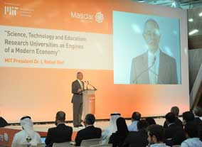 MIT President Reif at Masdar Institute