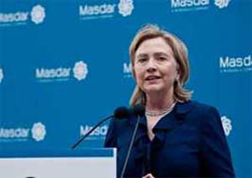 Hillary Clinton at the Masdar Institute