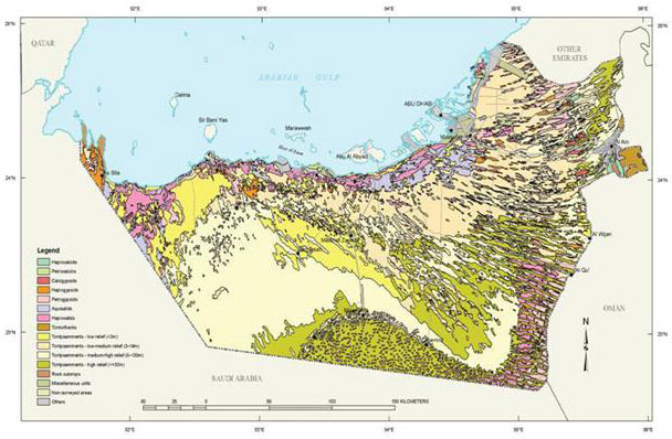 Soil map of Abu Dhabi