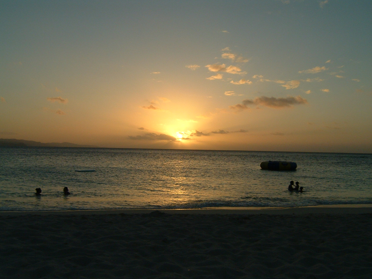 Sunset over Doctor's Cave Beach, Montego Bay
