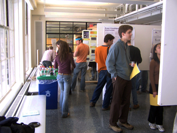 Poster session during Open House for prospective graduate students.