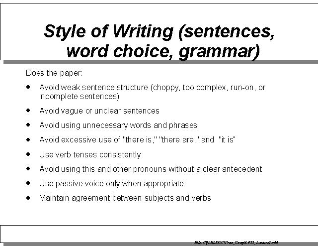 How to avoid unclear sentences in essay