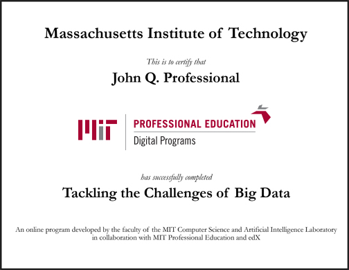 Tackling the Challenges of Big Data | MIT xPro