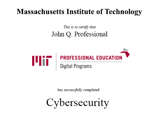 cybersecurity: technology, application and policy | mit xpro