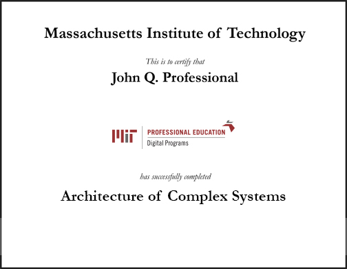 architecture of complex systems mit xpro