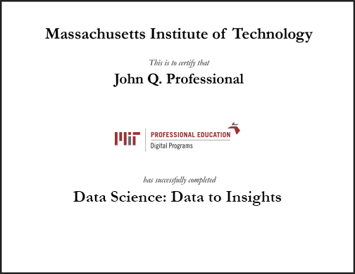 data science: data to insights | mit xpro