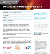 Link to flyer for Tackling the Challenges of Big Data