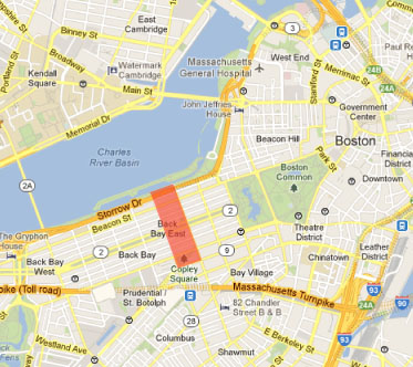 map back bay boston Example Title Once And Future City map back bay boston